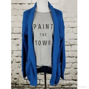 BP | Cardigan w/Pockets Blue Small